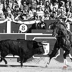Diego Ventura - Su primer toro - ByN Corrida 10-09-17