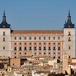 El Alcázar de Toledo, un edificio emblemático de la ciudad, sede de la Biblioteca regional.