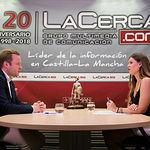 Vicent Casañ, alcalde de Albacete, junto a la periodista Carmen García. Foto: La Cerca - Manuel Lozano Garcia