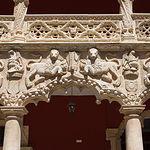 Palacio del Infantado; detalle del patio de los leones