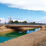 Acueducto del trasvase Tajo-Segura a su paso por Albacete.