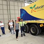 Llanos Valero, durante la visita realizada al Centro Comarcal de Emergencias (CEE) de la localidad de Molinicos.