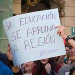 Manifestación estudiantes UCLM en Albacete