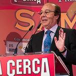 Samuel Flores, presidente de Honor del Jurado de los Premios Samueles, durante su discurso en la gala de entrega de los VIII Premios Taurinos Samueles.