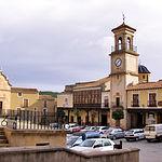 En 1242, Pelayo Pérez conquista Chinchilla y Albacete pasaría a depender de esta población en calidad de aldea.  Fotografía de la Plaza de La Mancha, en Chinchilla de Montearagón (Albacete).