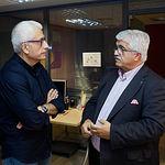 Eloy Molina, presidente de FECAM, junto a Manuel Lozano Serna, director del Grupo Multimedia de Comunicación La Cerca. Foto: Manuel Lozano Garcia / La Cerca