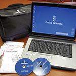 Ordenador portátil que se está entregando a cada uno de los 28.500 docentes de la enseñanza pública en la Región.