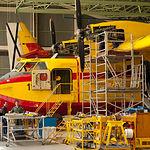 Aviones apagafuegos UD-13 de la Maestranza Aérea de Albacete.
