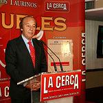 VI Premios Samueles - El ganadero y presidente de Honor de los Premios Samueles, Samuel Flores, durante su discurso en la gala de entrega de premios.
