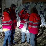 Salida con las UES (Unidades de Emergencia Social) de Cruz Roja Albacete