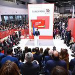 El presidente del Gobierno, Pedro Sánchez, interviene ante el Consejo Español de Turismo (CONESTUR), en el marco de FITUR. Foto: fotobpb