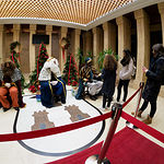 SS.MM. Los Reyes Magos recogen las cartas de última hora en el Ayuntamiento de Albacete