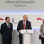 TOLEDO, 13 de marzo de 2019.- El vicepresidente primero del Gobierno regional, José Luis Martínez Guijarro, preside, en el Palacio de Fuensalida, la segunda reunión de la Comisión de Seguimiento de la Agenda 2030 de Castilla-La Mancha. (Fotos: Ignacio López // JCCM)