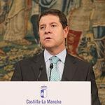 El presidente de Castilla-La Mancha, Emiliano García-Page, ha comparecido este martes en el Palacio de Fuensalida de Toledo para informar de la puesta en funcionamiento del Plan Extraordinario de Empleo regional y ayudas al estímulo del sector agroalimentario (FOTOS: Ignacio López // JCCM)
