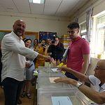 José García Molina ejerciendo su derecho al voto. 26M.