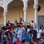 Palco de la Presidencia durante la corrida de este domingo, 16 de septiembre.