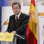 El secretario general de la Organización de las Naciones Unidas, Ban Ki-moon. Fuente: Ministerio de Defensa de España.
