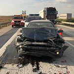 Accidente múltiple A31 - La Roda - 17-07-19. Foto enviada por la Diputación de Albacete.