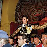 Daniel Luque salió por la Puerta Grande en su presentación en la Plaza de Toros de Albacete.