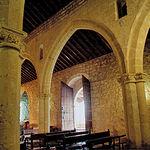 Interior de la ermita situada en el Parque Arqueológico de Alarcos.