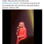 Tuit Mariano Rajoy - Himno España Marta Sánchez - 18-02