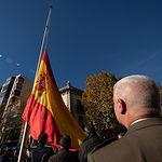 Izado de la Bandera de España en la Plaza de Gabriel Lodares en Albacete con motivo del 40 aniversario de la Constitución Española