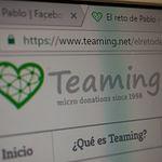 """Página de Teaming de """"El Reto de Pablo"""""""