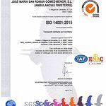 Certificados calidad Ambulancias Finisterre.
