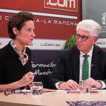 Carmen Montejo Criado, vocal de la Asociación de Gestores Medioambientales de Albacete (AGESAM) y José Ruiz, presidente de la Asociación de Empresas Agroalimentarias de Albacete