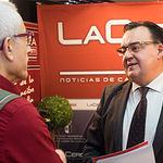 Santos Prieto, presidente de la Asociación de Empresarios de Campollano (ADECA), junto a Manuel Lozano, director del Grupo Multimedia de Comunicación La Cerca.