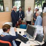 Parte del Jurado de los Premios Taurinos Samueles durante la entrega en el Registro del Ayuntamiento de Albacete de la solicitud