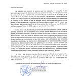 Carta de Manuel Serrano al delegado de la JCCM en Albacete.