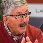Juan Antonio Mata, funcionario de Justicia, sindicalista y, en su día, secretario general de estas Comisiones Obreras regional que celebra su 40º aniversario.