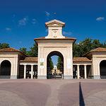 Albacete se prepara para el III Centenario de su Feria. Foto: Puerta de Hierro del Edificio Ferial.