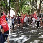 Concentraciones sindicales por las dos ultimas victimas de la siniestralidad laboral: un joven de 24 años y una muchacha de 19.