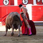 Enrique Ponce - Su primer toro - Feria Albacete - 16-09-16