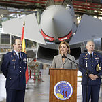 María Dolores Cospedal visita a la Base Aérea de Los Llanos de Albacete