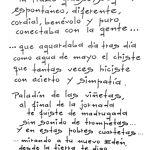 Texto a Forges por Valeriano Belmonte