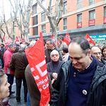 Concentración en Guadalajara en defensa de pensiones dignas.