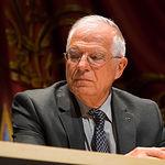 """Josep Borrell durante la presentación de su libro """"Los idus de octubre"""""""