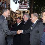 Su Majestad el Rey recibe el saludo del presidente de las Cortes de Castilla-La Mancha, Jesús Fernández Vaquero