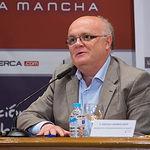 """Pedro Antonio Ruiz Santos, delegado provincial de la JCCM en Albacete, en el III Fórum """"Castilla-La Mancha de Cerca"""" organizado por el Grupo Multimedia de Comunicación La Cerca."""