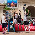 Plaza 3x3 CaixaBank..en la explanada del Pincho de la Feria en Albacete
