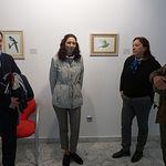 Yolanda Fernández en la inauguración de su exposición.