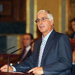 El presidente de Castilla-La Mancha, José María Barreda, durante su intervención en el Congreso de los Diputados en el debate y toma en consideración del texto de modificación del Estatuto de Autonomía de Castilla-La Mancha.
