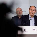Nicolás Merino, delegado provincial de Economía, Empresas y Empleo en Albacete, durante presentación del Plan Adelante 2020-2023. Foto: Manuel Lozano García / La Cerca