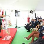 El presidente de Castilla-La Mancha, Emiliano García-Page, preside el acto de colocación de la primera piedra de la planta de producción de productos cárnicos que la multinacional suiza Bell Schweiz AG construirá en la localidad toledana de Fuensalida. (Fotos: José Ramón Márquez // JCCM)