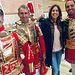Rosa Romero visita la Hermandad del Santo Sepulcro a la que pertenece la Compañía Romana de Armaos.