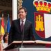 Emiliano García-Page durante su toma de posesión como presidente de Castilla-La Mancha.