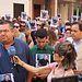 Concentración en apoyo a familiares de Antonio, desaparecido a principios de mes